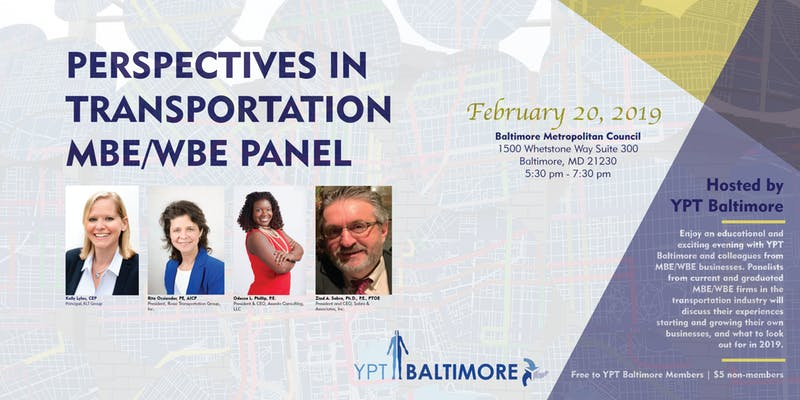 Perspectives in Transportation Panel @ Baltimore Metropolitan Council